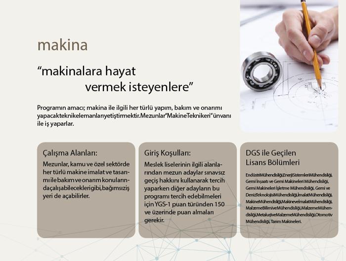 İstanbul Kavram Meslek Yüksekokulu Makine